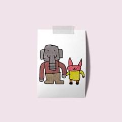 엽서 - 코끼리아저씨