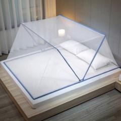 미우 1인 접이식모기장 원룸 침대방충망 캐노피 싱글