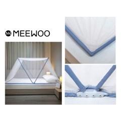 여름 침대모기장 사각 대형 캠핑 1인용 쉬운 미우 원터치 방충망 모