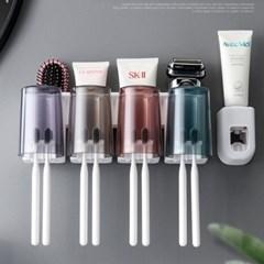 욕실 칫솔 면도기 양치컵 꽂이 치약짜개 걸이 선반