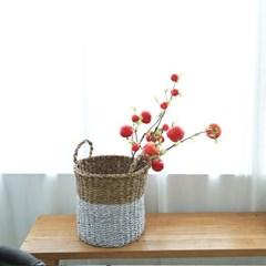 인테리어 모조과일 소품 홍사과 조화가지 68cm 3size