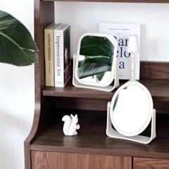 빈티지 샌드 원형 사각 탁상거울 2종택1