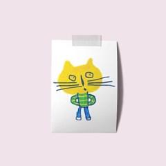 엽서 - 노란고양이