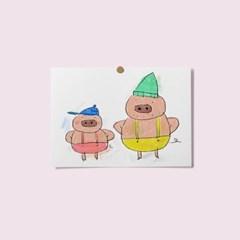 엽서 - 돼지형제