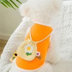 강아지 여름옷 나시 민소매 크로스백 귀여운옷