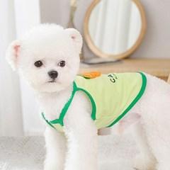 강아지 쿨 티셔츠 - 당근 끈나시