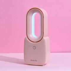 날개없는 탁상용 휴대용 사무실 소형 LED 무선 선풍기