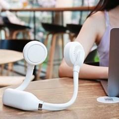 시원한 충전 무선 날개없는 휴대용 넥밴드 선풍기