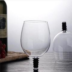 와인 글래스 토퍼 병에서 바로 마시는 잔
