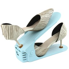 3단 높이조절 다양한 슈즈 깔끔 신발정리대 - 10개 세트 - 블루