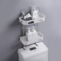 부착식 욕실 3단선반 화장실 욕조 선반 화이트