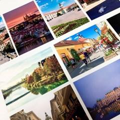 동유럽 체코 오스트리아 헝가리 여행 사진 엽서 12장 세트
