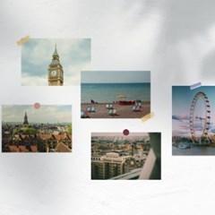 영국 런던 여행 사진 엽서 12장 세트