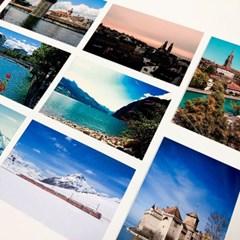 스위스 여행 사진 엽서 12장 세트
