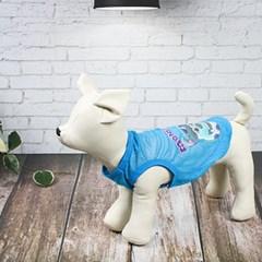 강아지 여름나시 미니언몬 민소매 애견메쉬