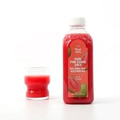 [뷰코프레쉬 퓨어] 비가열 생과일100% 건강한 핑크구아바 주스 870ml