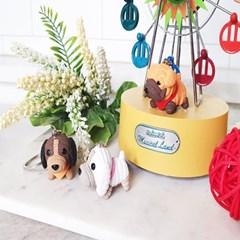 손뜨개 패턴 귀여운 강아지 인형 키링 가방고리 차키 열쇠고리
