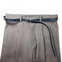 [주문제작]시그니쳐 벨트 Black - Buttero Leather (무료각인)