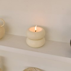 Press candle - ivory