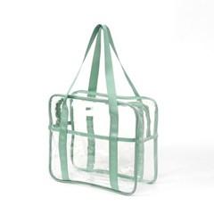 컬러팝 방수 투명 비치백(민트)