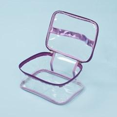 네오 방수 투명 파우치(퍼플)