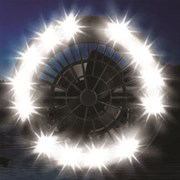 디지토 거치형 LED 랜턴 휴대용 손전등 선풍기 건전지포함