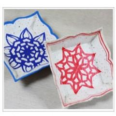 종이공예 한지 사각접시 만들기(10set)