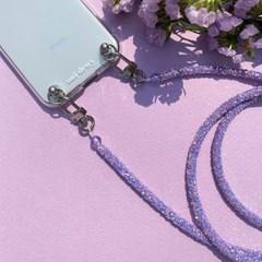 [갤럭시] 젤리 반짝이 크로스 핸드폰 스트랩 VIOLET
