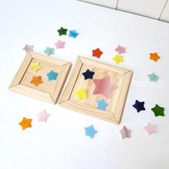 유리조각 컵받침만들기-별