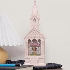 핑크 교회 워터볼 오르골 2종