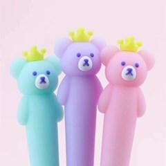 [맙소사잡화점] 왕관을 쓴 곰 임금님 젤 펜