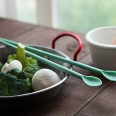 파스텔 실리콘 요리 젓가락 3color