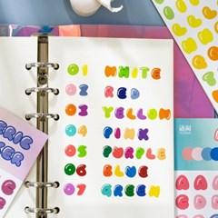 레인보우 숫자 알파벳 다꾸 스티커 다이어리꾸미기