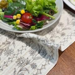 케이블랑 들꽃 키친크로스 행주 테이블매트