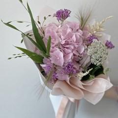 [생화] 수국 꽃다발 핑크or블루퍼플 (택배불가능)