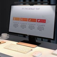 베이스어스 모니터 램프 LED 스크린보호 조명 블랙