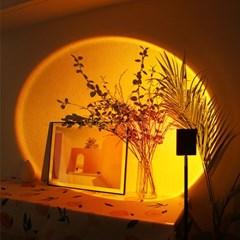 만달라키 노을 무드등 스튜디오 조명 사각형 80cm레드