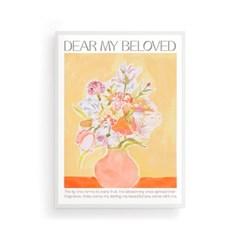 홈 인테리어 아트 메시지 포스터_Dear my Beloved
