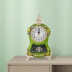 엔틱 비즈 황실 저소음 탁상 시계 소형