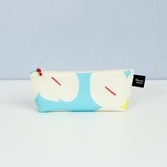 [pencil case] cotton blue