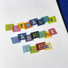 Alphabet Masking Tape