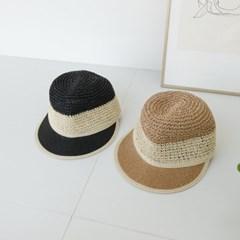 지사 배색 기본 심플 챙넓은 데일리 패션 볼캡 모자