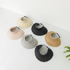 꼬임 챙넓은 돌돌이 UV 자외선차단 패션 썬캡 모자