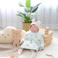 베이비앤아이 조끼형 이유식 방수 턱받이-구름(민트)