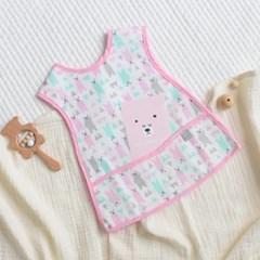 베이비앤아이 조끼형 이유식 방수 턱받이-폴라베어(핑크)
