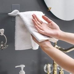 욕실 수건걸이 벽걸이 정리대 접착식 디자인후크 4개