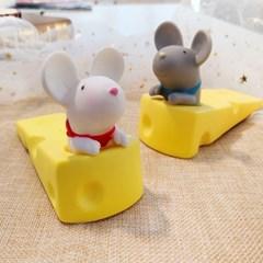 문닫힘 방지 귀여운 치즈 쥐 도어스토퍼 안전 실리콘 도어가드