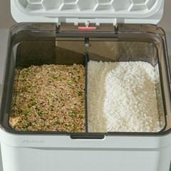 신일 무선 멀티진공보관함 진공쌀통 민트/화이트 12kg(6+6kg)