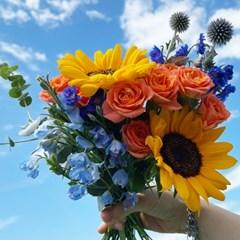 [무료배송](생화)랜덤 믹스 꽃다발 화훼농가돕기 미니 꽃 배송