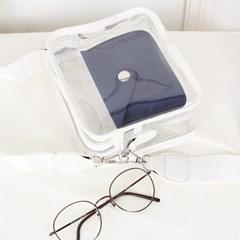 [지갑 set /여름pvc] 젤리 박스 파우치백
